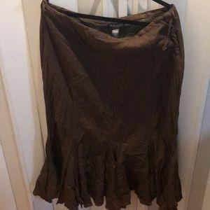 Medcalf brown skirt fluttery at the bottom